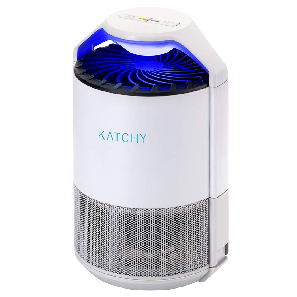 KATCHY 123 Indoor Fly Trap: Bug, Fruit, Gnat, Flies Killer-UV Ligh, White by KATCHY