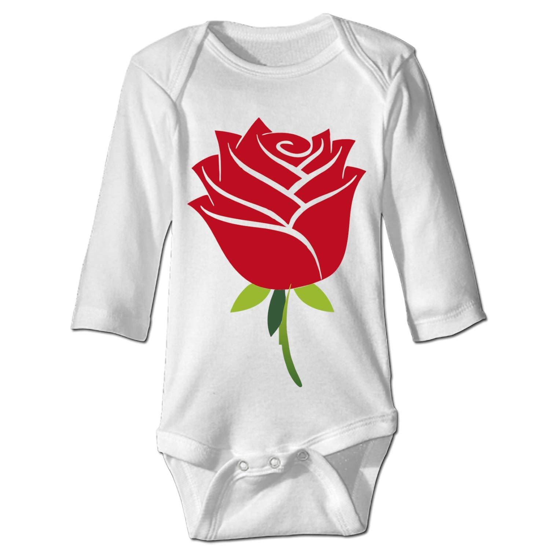 farg Clothing Baby Creeper Red Rose Baby Bodysuit
