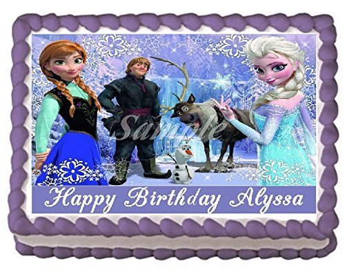 Magnificent Frozen Edible Frosting Sheet Cake Topper 1 4 Sheet Buy Online Funny Birthday Cards Online Inifodamsfinfo