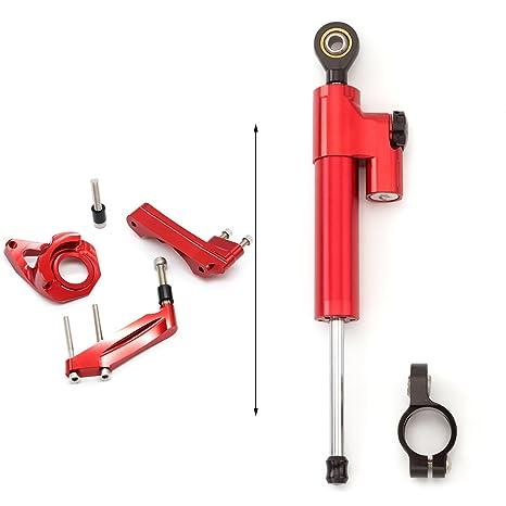 rzmmotor ‒ Estabilizador del amortiguador de dirección de la motocicleta con soporte de montaje