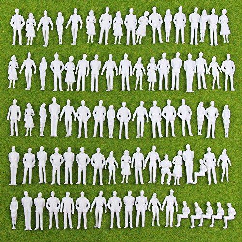 인형 인물 사람들 인간 인간 피규어 미도장 정경 콜렉션 더 ・ 철도 모형・디오라마・건축 모형・전철 모형으로 35㎜ 스케일아쥬반 VANT)Re:1/50 100 개세트