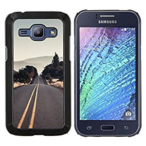 LECELL--Funda protectora / Cubierta / Piel For Samsung Galaxy J1 J100 -- Vaciar la carretera EE.UU. --
