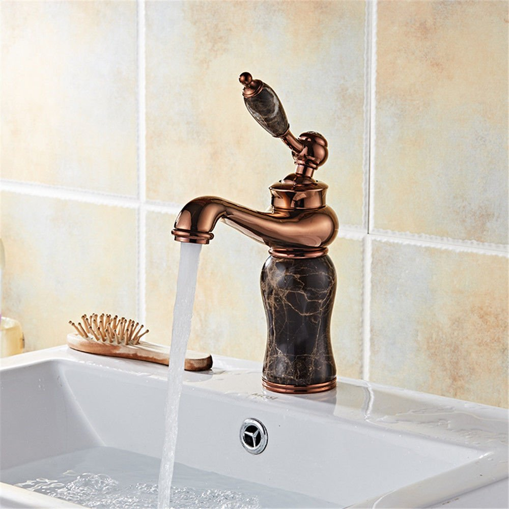 A S.Twl.E Sink Mixer Tap Faucet Bathroom Kitchen Basin Tap Leakproof Save Water Antique Home Basin Faucet Full Copper Hot And Cold Water Faucet A