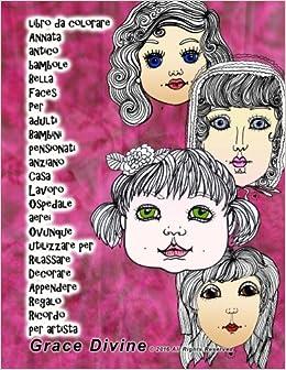 Libro Da Colorare Annata Antico Bambole Bella Faces Per Adulti