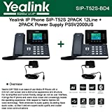 Yealink SIP-T52S 2PACK IP Phone 12-Lines + 2PACK Power Supply PS5V2000US 5Volts