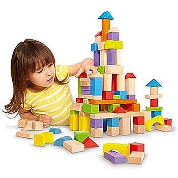 Amazon Com Imaginarium 150 Piece Wooden Block Set Toy