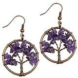 Amazon Price History for:Dangle Earrings, BAYUEBA Tree of Life Chakra, Natural Amethyst Rose Quartz Peridot Lapis Lazuli Jewelry