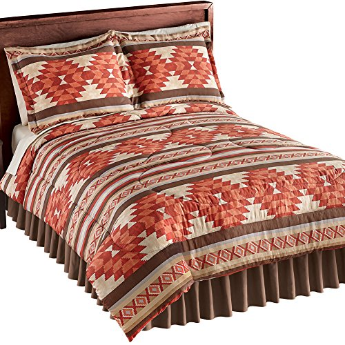 Cheyenne Aztec Pattern Comforter Set, 3 Pc with 2 Pillow Shams and 1 Comforter, Southwestern Décor, Twin (Cheyenne Bedding)