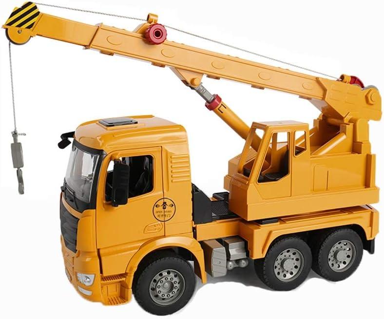 Vehículos de construcción Juguete Camiones de Juguete de construcción de vehículos de Juguete Carro del Tractor de Remolque de Tractor motocultor Camiones de Juguete for los niños (Color : Crane)