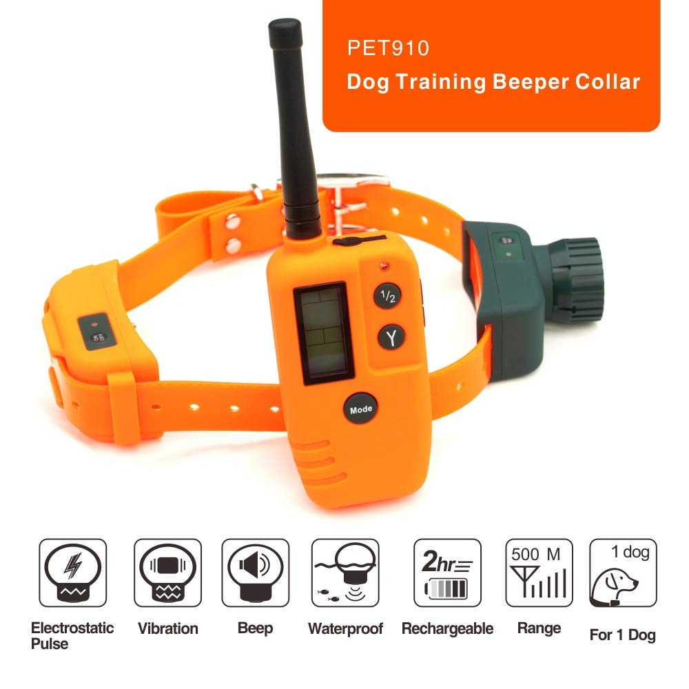 SAATAN 500m Remote Control Dog Beeper Training Collar Rechargeable Dog Hunting Collar Beeper pet Trainer Electric Shock Waterproof