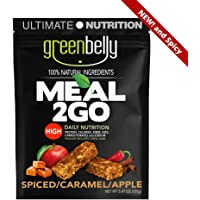 Greenbelly Backpacking Meals - Backpacking Food, Appalachian Trail Food Bars, Ultralight, Non-Cook, High-Calorie, Gluten-Free, Ready-to-Eat, All Natural Meal Bars (Spiced Caramel Apple, 5 Meals)
