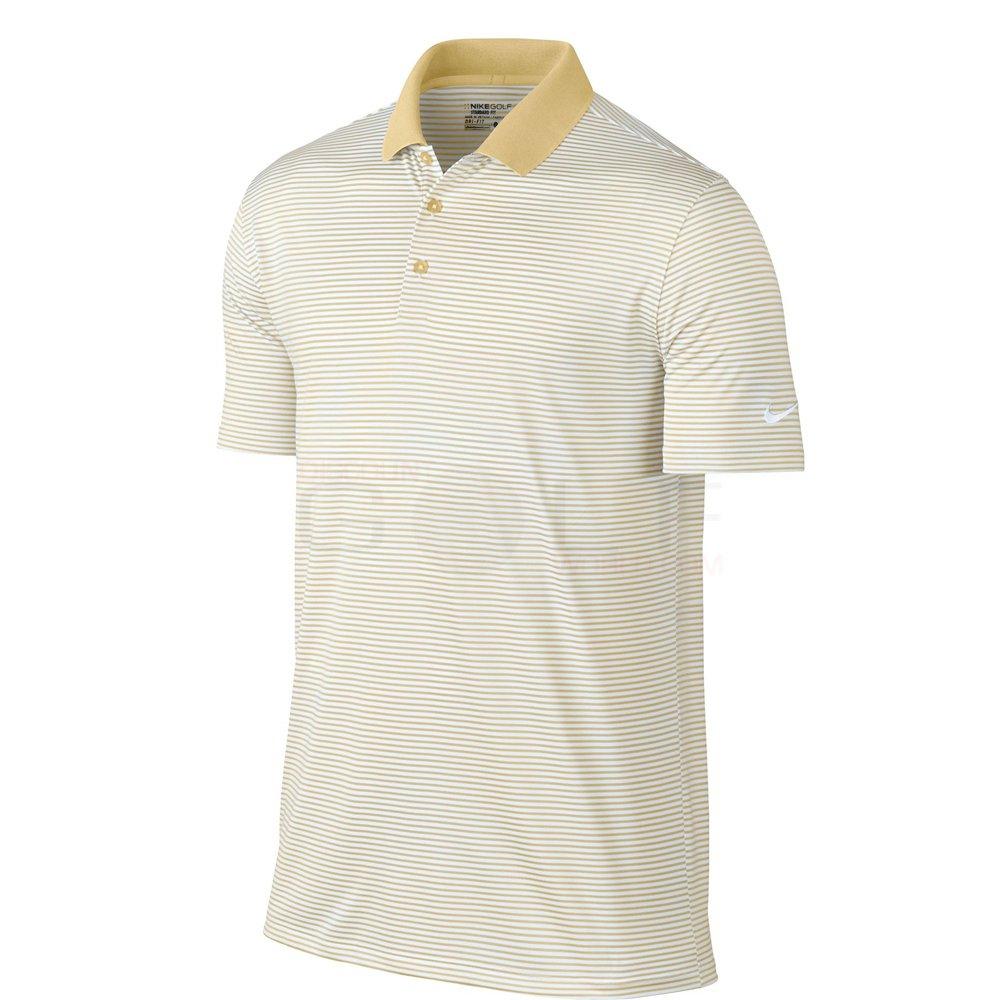 ナイキ ゴルフ DRI-FIT ヴィクトリー ミニ ストライプ 半袖ポロシャツ B013WTI99O Small Team Gold/White Team Gold/White Small