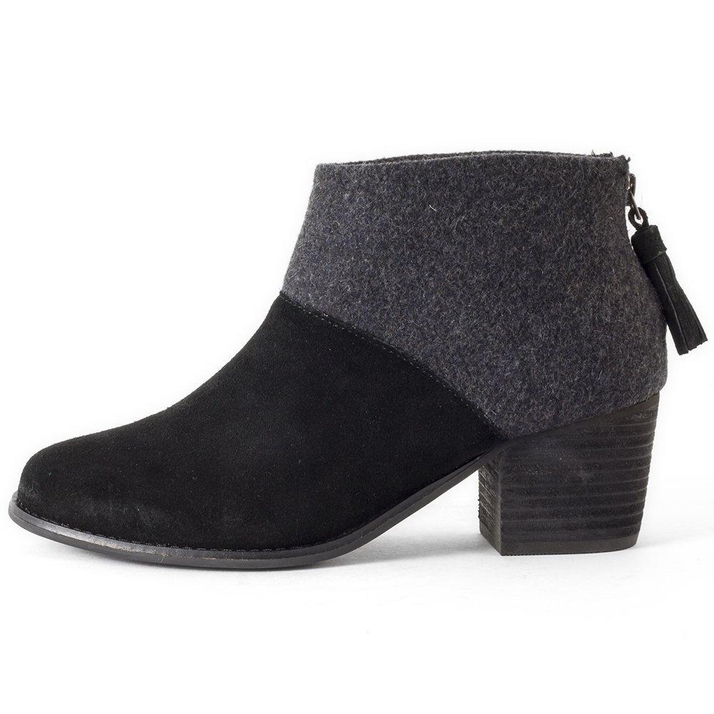 9757d6c475d TOMS Women's Leila Bootie Black Wool Felt Boot