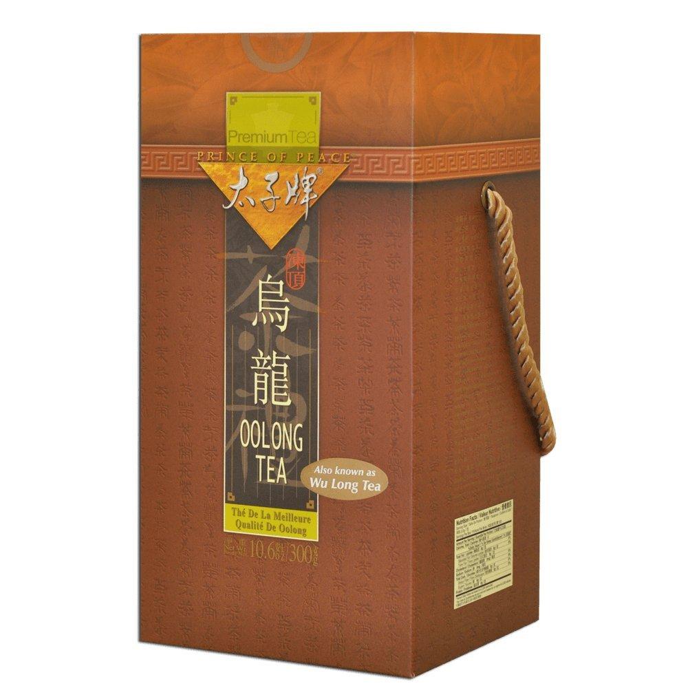 Prince of Peace Premium Tea Perfect Gift Tea Box (Oolong Tea (乌龙茶), 12 Pack (one Case)) + One NineChef Spoon