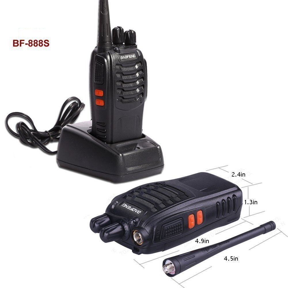 Baofeng BF-888S Rechargeable Long Range 5W Two Way Radio Walkie Talkies 16 Channel Handheld Radio Built in LED Torch Microphone With Earpiece(Pack of 10) 10 Pack by Baofeng (Image #4)
