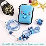Ship by USPS, ZOEAST(TM) DIY Protectors Apple Lightning Data Cable USB Charger Data Line Earphone Wire Saver Protector for iPhone 5 5S SE 6 6S 7 8 Plus X IPad iPod iWatch (Upgrade Styles, Stitch)