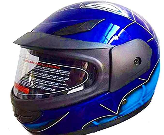 301d3295 Amazon.com: Kids Full Face Helmet Spider-Man Motorcycle ATV Dirt Bike  Bicycle (Blue): Clothing