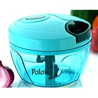 PALAK India New Handy Mini Chopper with 3 Blades, Hand Manual Machine as Seen on TV, Veggie Food Dicer with Triple Blade, Green