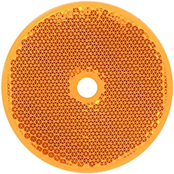 """1 Pack RVs and Buses Towing Grand General 80831 Round Amber 2-1//8/"""" Stick-On Reflector with Chrome Bezel for Trucks Trailers"""