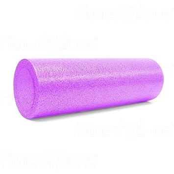 FitnessXzone - Rodillo de espuma para yoga y pilates, 90 o 45 cm, color violeta, azul, rosa o blanco