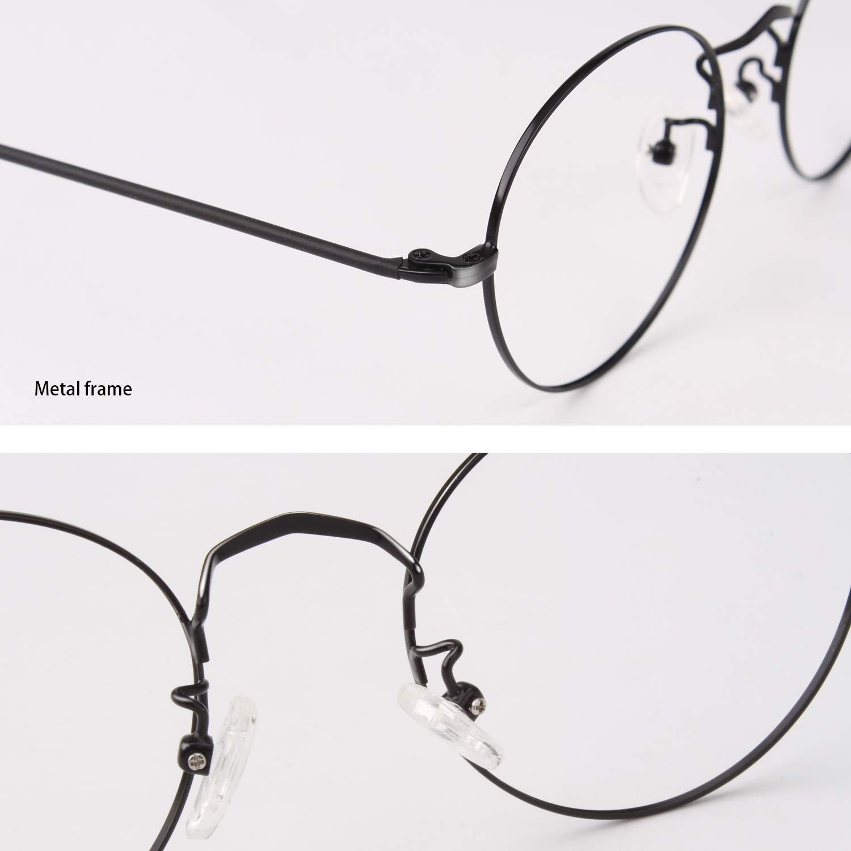 50 mm CGID Gafas redondas Marcos de metal /Óptico 2019 Gafas graduadas a la /última moda para hombres y mujeres