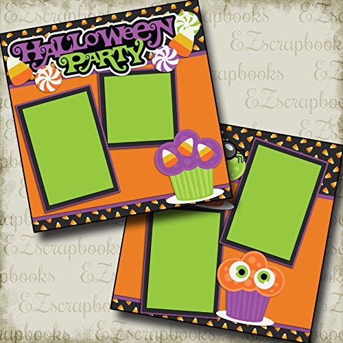HALLOWEEN PARTY - Premade Scrapbook Pages - EZ Layout 2148 -