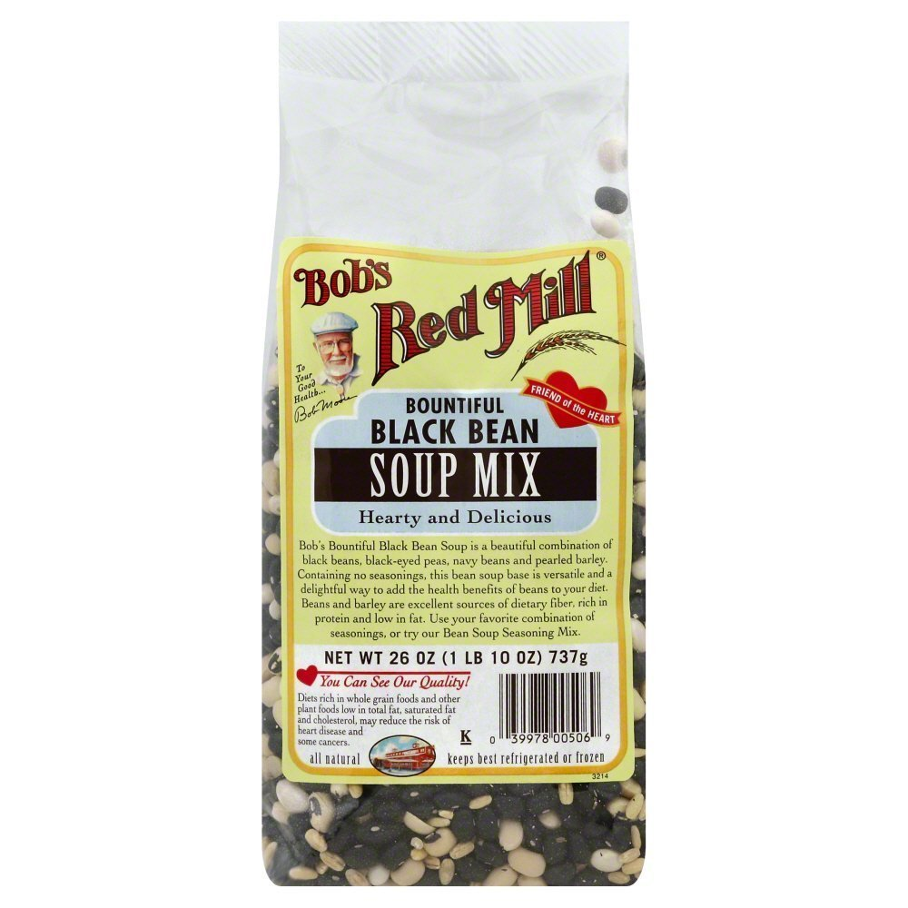 Bobs Red Mill Black Beans Soup Mix 26.0 OZ(Pack of 3)