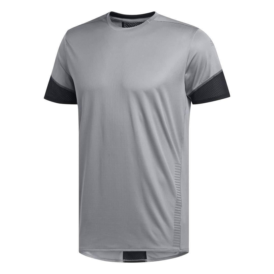 adidas Men's Rise Up N Run Running Tee, Grey, X-Large