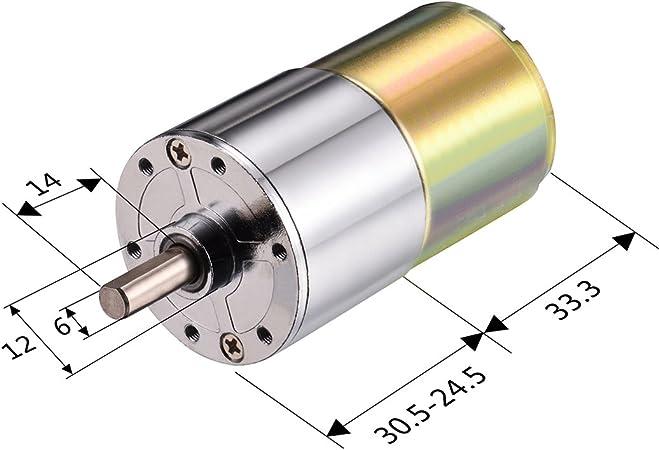 de salida exc/éntrico model: K1246OIV-2729LP Aexit DC 24V 60RPM Caja de engranajes micro Reducci/ón de la velocidad del motor Caja de cambios el/éctrica Eje