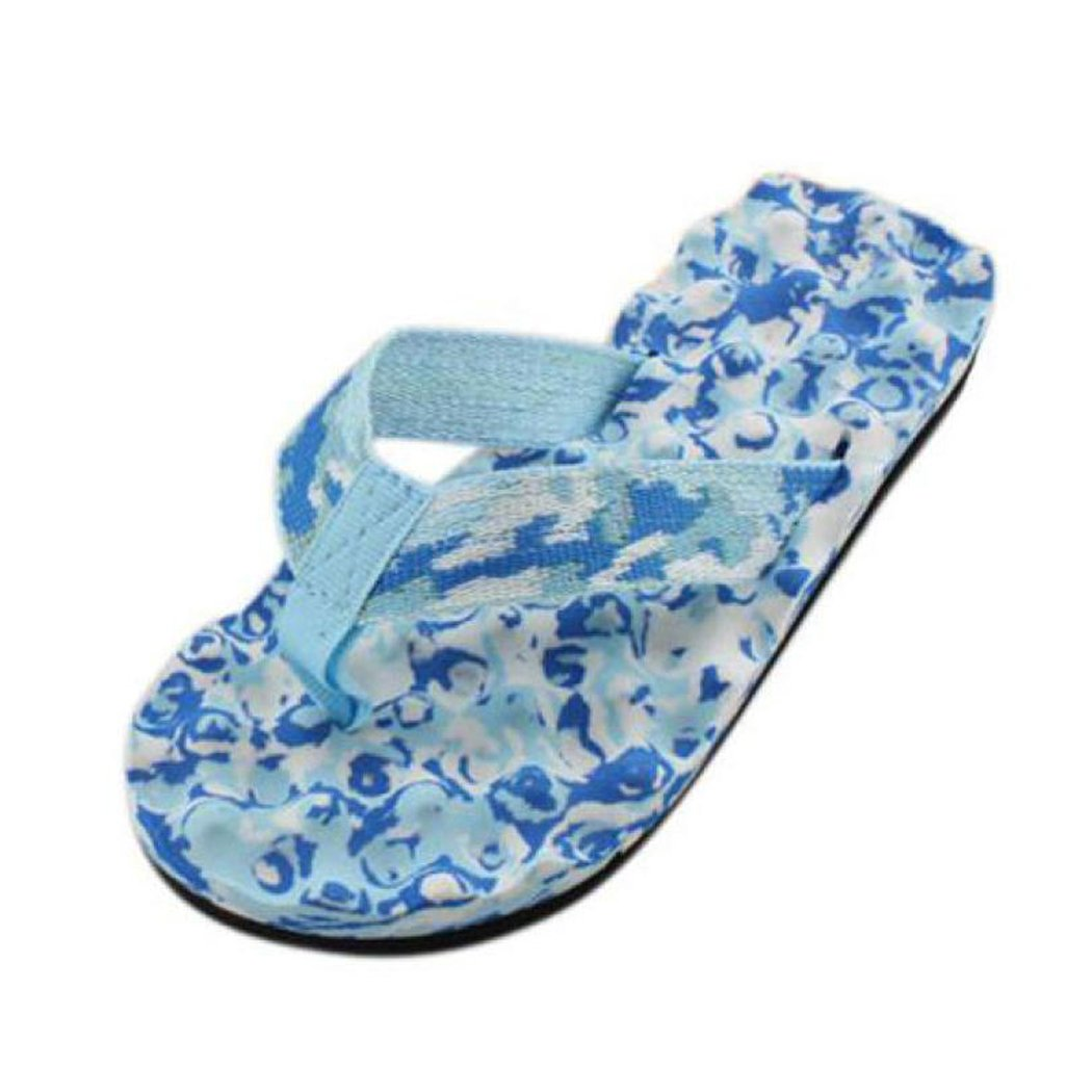 Inkach Womens Flip-Flops Summer Flat Sandals Outdoor Slipper Shoes (8.5, Blue)