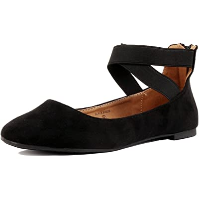 Women's Classic Ballerina Flats with Elastic Crossing Ankle Straps Ballet Flat Yoga Flat Shoes Slip On Loafers | Flats