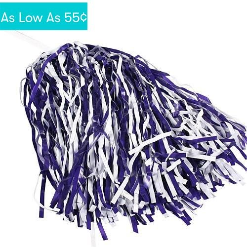 Purple & White Spirit Pom Poms - Buy Online in Oman