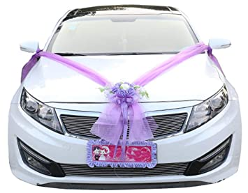 Amazon.com Icegrey Artificial Flowers Bouquet Wedding Car