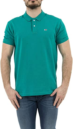 Polo Tommy Hilfiger Classics Solid Green S: Amazon.es: Ropa y ...
