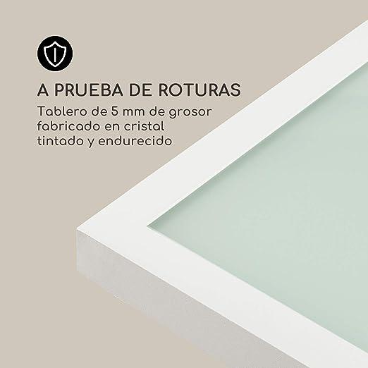 blumfeldt Pamplona Mesa de jardín - Extensible, Materiales: Aluminio y Vidrio, Concepto SmartSpace, Medidas máximas 180 x 83 cm, hasta 6 Personas, ...
