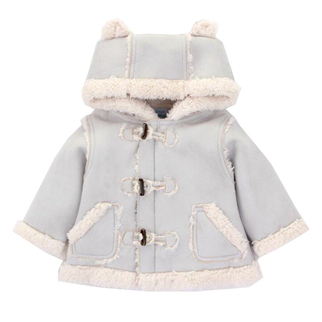 Blueleyu Unisex-Baby Thermal Hooddie Coat Jacket Long Sleeve Winter Toddler Jumpsuit Sweatshirt Outwear