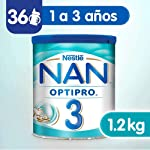 Nestle Nan Fórmula Infantil 3 Optipro, 1.2kg, Pack of 1