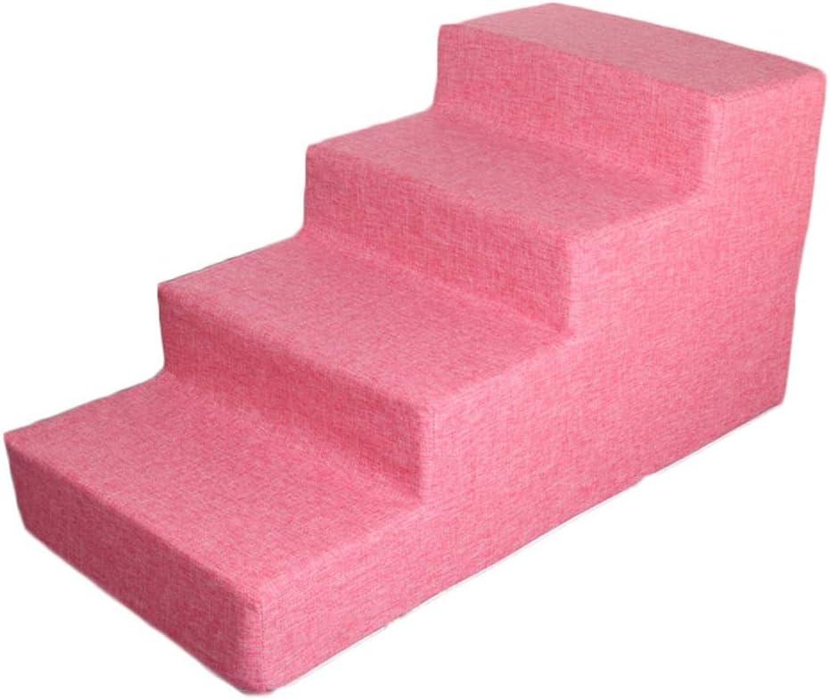 HH- Escaleras de Mascotas Escalera/Rampa/Escalones For Mascotas De Color Rosa For Perros Pequeños con Cubierta Desmontable, Escaleras Lavables For Perros Y Gatos For Camas Altas/Sofá: Amazon.es: Productos para mascotas