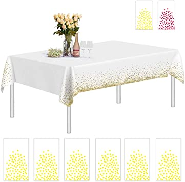 Rectangle 54 X 108 Party Decor Birthday Celebration Disposable Table Covers Pink Heavy Duty Plastic Tablecloth Reusable