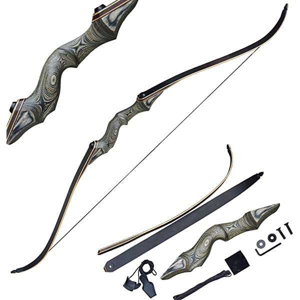 Tongtu Mars Recurve Bow and Arrows Set,Takedown Recurve Bow For Right-Hand Draw weight 20 LB-60 LB Length 60.2