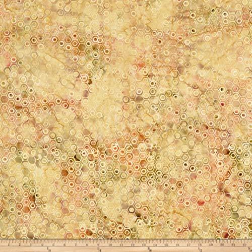 Island Batik Birds n' Bees Honeycomb Sahara Fabric by The Yard
