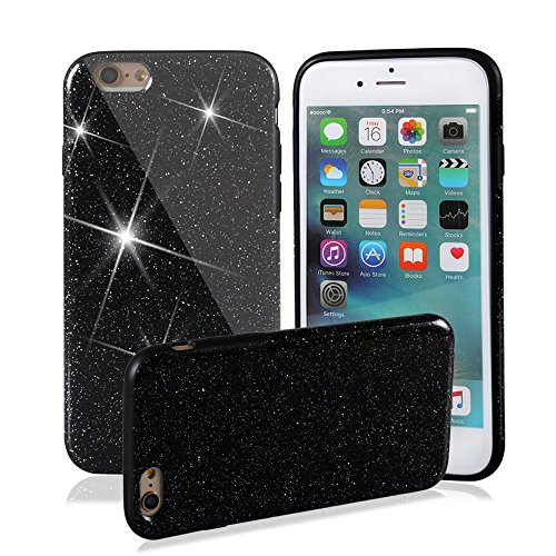 iPhone 6 Case, iPhone 6S Cover, GTidea Shiny Sparkle Glitter Bling [Anti-Shock] [Scratch Resistant] Premium Firm Soft Gel Flexible Rubber Case for iPhone 6 (2014) iPhone 6S (2015) 4.7 Inch - (Firm Shock)