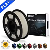 SUNLU 3D Printer Filament PLA Plus White(more like Ivory),PLA Plus Filament 1.75 mm SUNLU,Low Odor Dimensional Accuracy +/- 0.02 mm 3D Printing Filament,2.2 LBS (1KG) Spool 3D Printer Filament for 3D Printers & 3D Pens,White(more like Ivory)