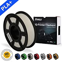 SUNLU 3D Printer Filament PLA Plus White(more like Ivory),PLA Plus Filament 1.75 mm, Low Odor Dimensional Accuracy +/- 0.02 mm 3D Printing Filament,2.2 LBS (1KG) Spool 3D Printer Filament for 3D Printers & 3D Pens,White(more like Ivory)