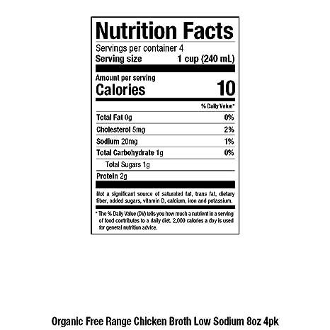 Amazon Pacific Foods Organic Free Range Chicken Broth Low