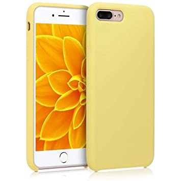 kwmobile Funda para Apple iPhone 7 Plus / 8 Plus - Carcasa de TPU para teléfono móvil - Cover Trasero en Amarillo Mate