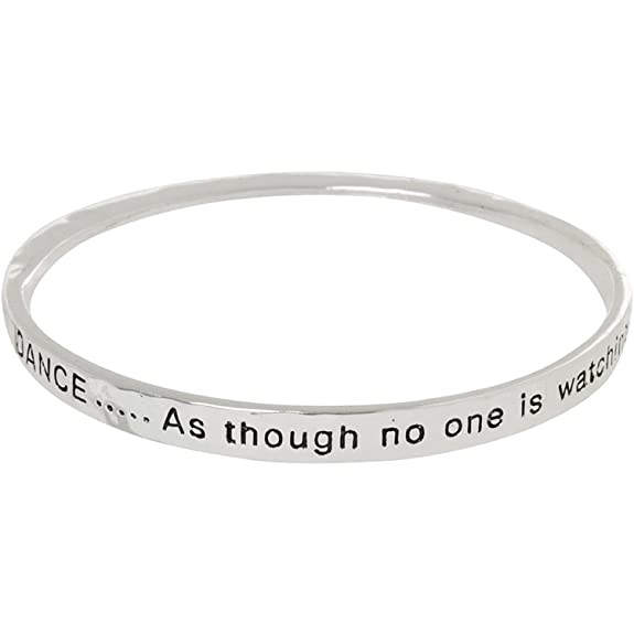 Dance as Though No One is Watching - Twist Bangle Bracelet