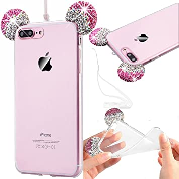 coque iphone 8 plus silicone bling bling