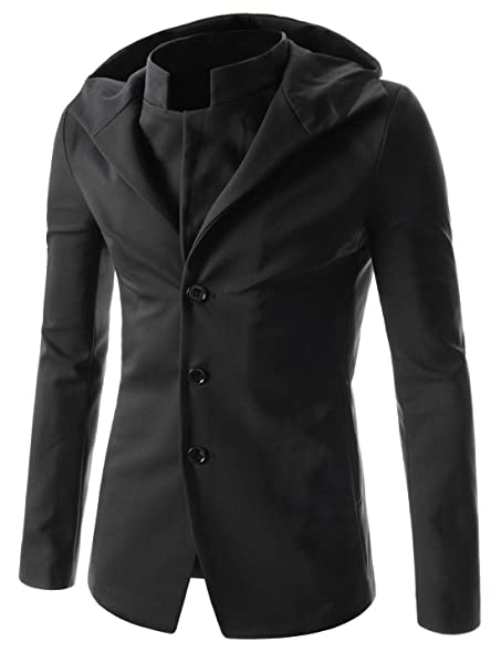 TheLees (NJK) Mens Unbalance 2 button china collar jacket at ...