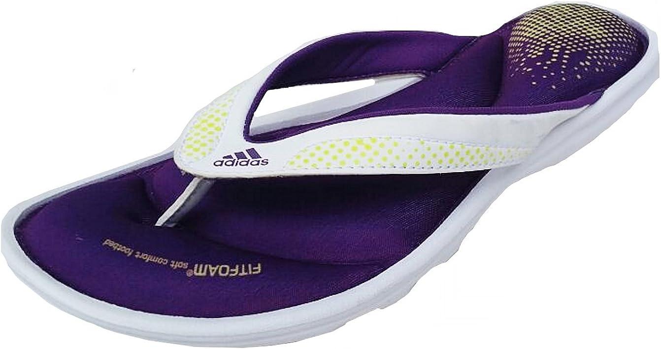Andrew Halliday Imbécil representante  adidas Womens Fit Foam 2.0 Thong Toe Post Slide Sandal White/Purple D66570  UK 6, 7, 8 (7uk): Amazon.co.uk: Shoes & Bags
